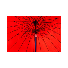 The Red Umbrella  - Laminated Poster A3