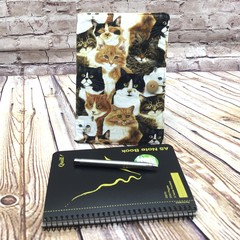 Cat Pack Fabric Notebook Cover