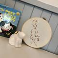 FOXY FIELDS silhouette embroidery, 20cm hoop