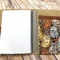 Owls Fabric Notebook Cover