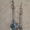Leaf and Jasper Stone Earrings