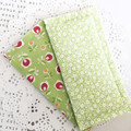 Fabric Bookmarks - A dash of green