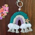 Rainbow bag charms, Rainbow keyrings