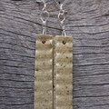 Unique handmade ceramic earrings. Great gift idea. Earthy and rugged.