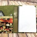 Mushrroms Fabric Notebook Cover