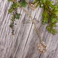 Filigree Gold Flower Necklace