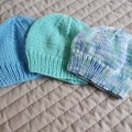 *Special * 3 beanies: (0-6mths): Washable, boy