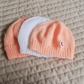 *Special * 3 beanies: (6-12mths): Washable, girl, soft, winter