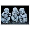 Buddha Babies - Laminated Poster A3