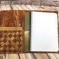 Woodgrain Fabric Notebook Cover