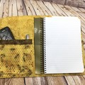 Bees Fabric Notebook Cover