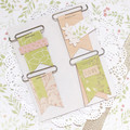 Paper Clip Banners - Green and peach floral