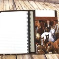 Horses Fabric Notebook Cover