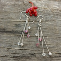 Pretty with Pink Crystal Earrings