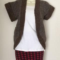 Ladies Woollen Rib Hugger Vest