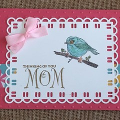 Thinking of you - Mother's Day Handmade Card