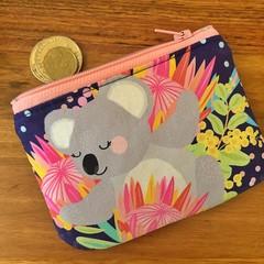 Coin purse - Koala with Protea