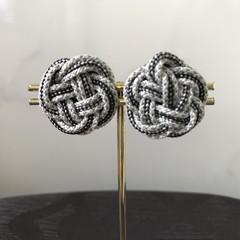 KUMIHIMO Earrings (Black & White 2)
