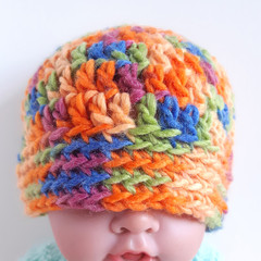 Beanie - size 3 - 6 months old - colourful beanie hat