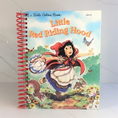Little Red Riding Hood Journal or Sketchbook using recycled Golden Book