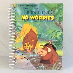 The Lion King Journal or Sketchbook using recycled Golden Book, Blank Pages