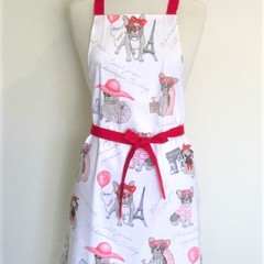 Paris Dog Womens Kitchen Apron FREE Post!