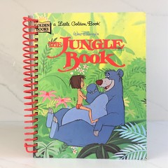 The Jungle Book Journal or Sketchbook using Recycled Golden Book