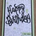 Birthday Handmade Card - FREE POST