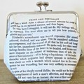 Jane Austen Gift Clutch Purse Quote Pride and Prejudice Bookworm Gift Bridal