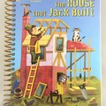 House that Jack Built Journal or Sketchbook using recycled Golden Book