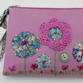 """Florence"" Purse - Yoyo Flowers & Embroidery"
