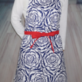 Navy Rose Ladies Kitchen Apron FREE Tracked POST!