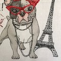 Paris Dog Ladies Kitchen Apron FREE Tracked Post!