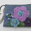"""Willow"" Purse - Crochet Flowers & Vintage Buttons"
