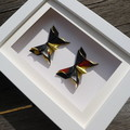 Custom made gift - Black Gold Butterflies - handmade gift for special occasion