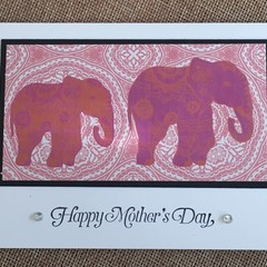 Mother's Day Handmade Card  - elephant