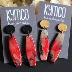 'Poppy' Series dangle earrings - long.