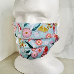 Organic Cotton Reusable Fabric Face Mask with Nose Wire & Filter Option