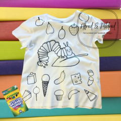 Hungry Caterpillar colour in t-shirt