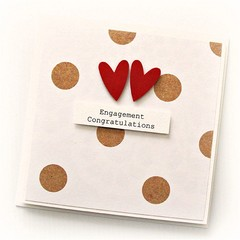 Engagement card | Hearts and Spots | Congratulations