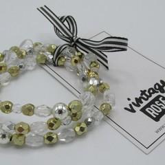 3 Strand Luxe Bracelet Set - Swarovski / Semi Precious