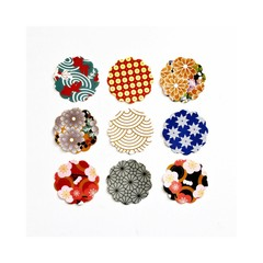 Japanese Mixed Patterns {9} | Gift Seals | Japanese Stickers | Circle Stickers |