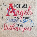 """""""Angels and Stethoscopes"""" Hand Towel"""