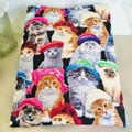 Cat Lovers Delight Padded Booksleeve Tablet Cover With Closure Bookworm Gift