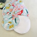 Organic Cotton Washable & Reusable Face Wipes Makeup Removers
