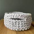 Lavender Crochet basket