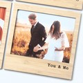 Magnetic Photo Frame, You & Me, Bamboo Fridge Magnet, Anniversary, Valentine