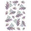Rice Paper - Decoupage - 1 x A4 Size Sheet - Lilac