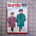 Burda 5611 childrens dress coat pattern. Size 3, 4, 6, 7. Uncut pattern.