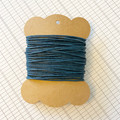 10 Metres Navy High Quality Wax Cotton Cord